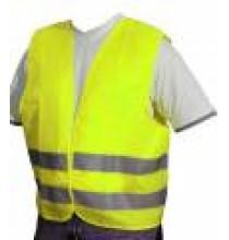 Výstražná vesta pro dospělé XL - žlutá