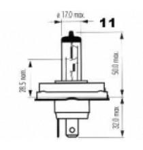 Autožárovky s kovovou paticí P45t NARVA