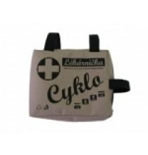 Cyklolékárnička první pomoci s píšťalkou